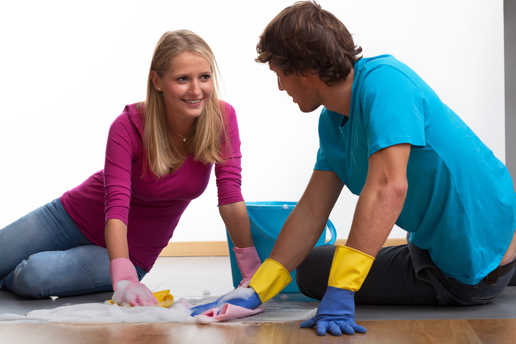 Marriage enjoy cleaning house together