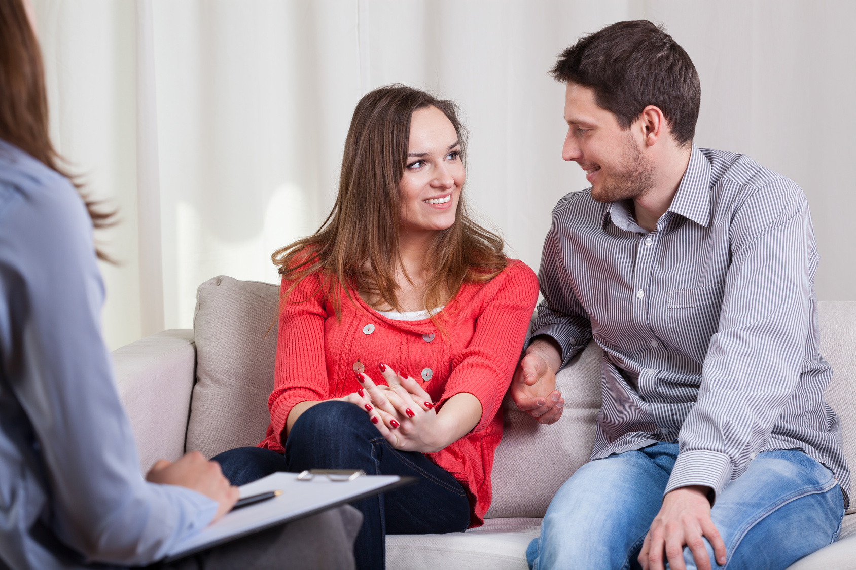 Beauty couple solved their problems on psychotherapy