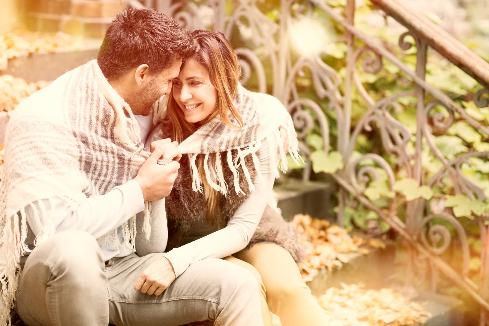 Love autumn couple